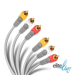 Cable Elite reforzado RCA de audio y video, de 3,6 m