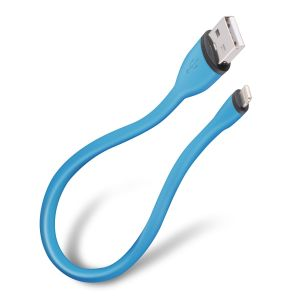 Cable ultra flexible USB a lightning, de 25 cm